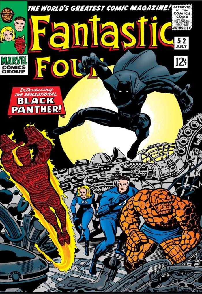 Debut of Black Panther in Fantastic Four - Stan Lee - Afriket